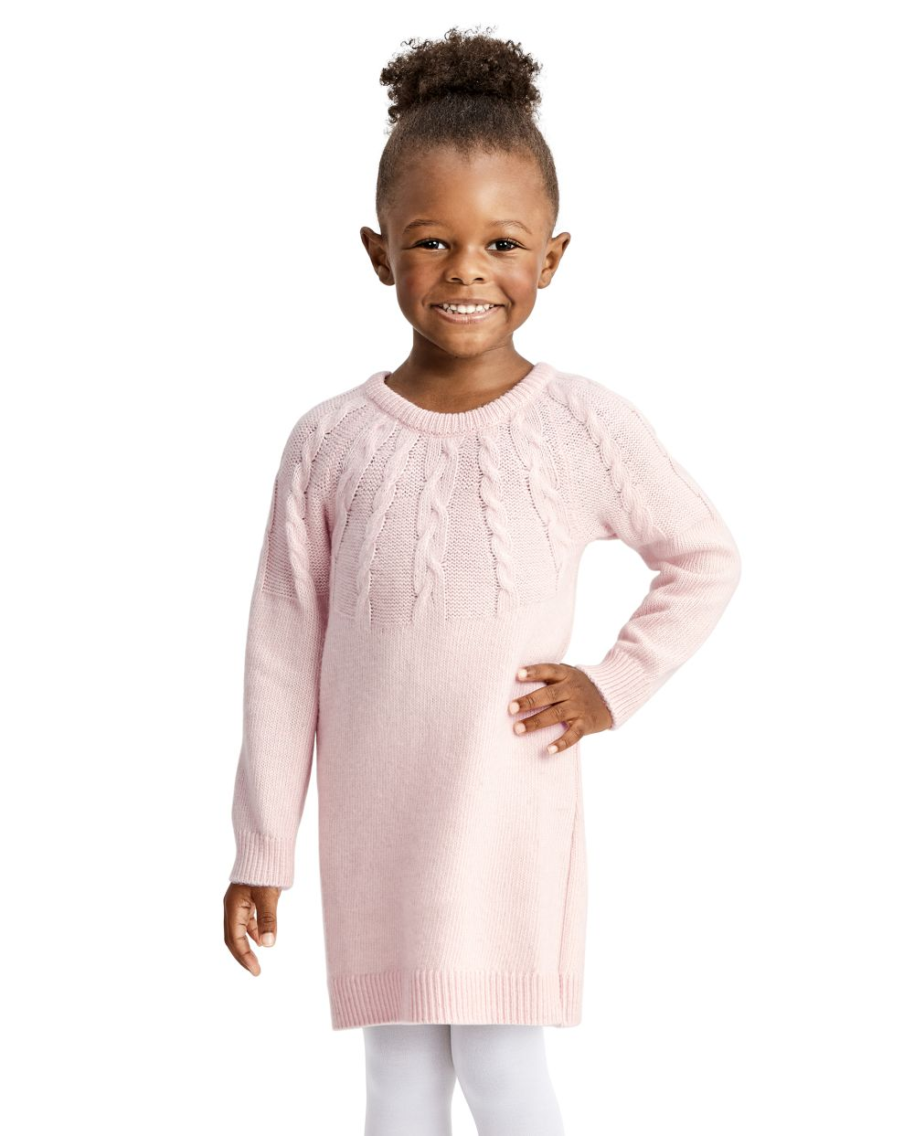 Baby And Toddler Girls Cable Knit Sweater Dress