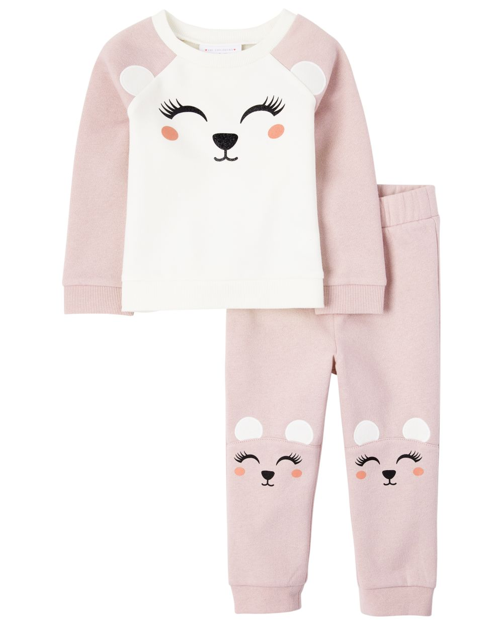 Toddler Girls Polar Bear Outfit Set