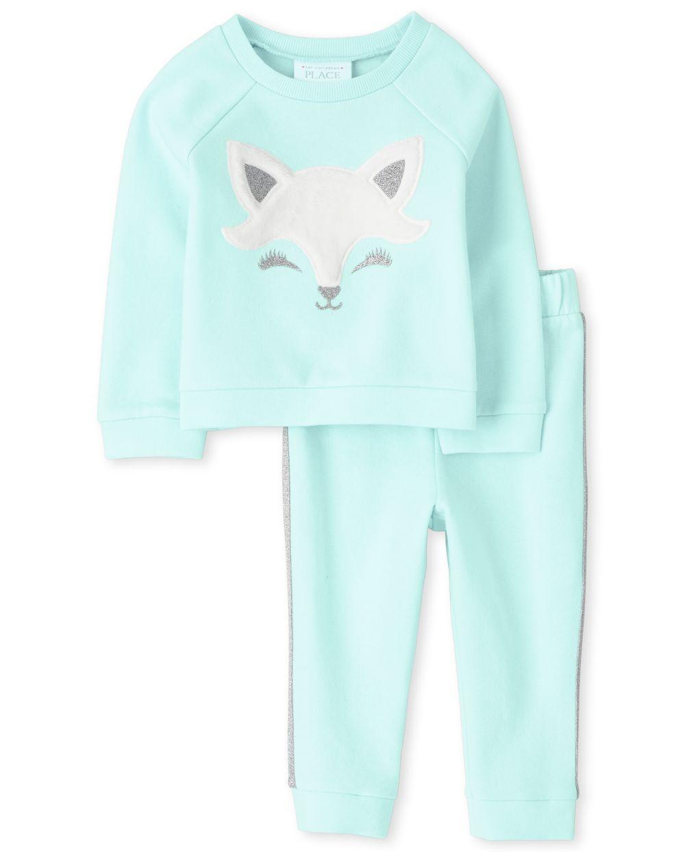 Toddler Girls Fox Outfit Set
