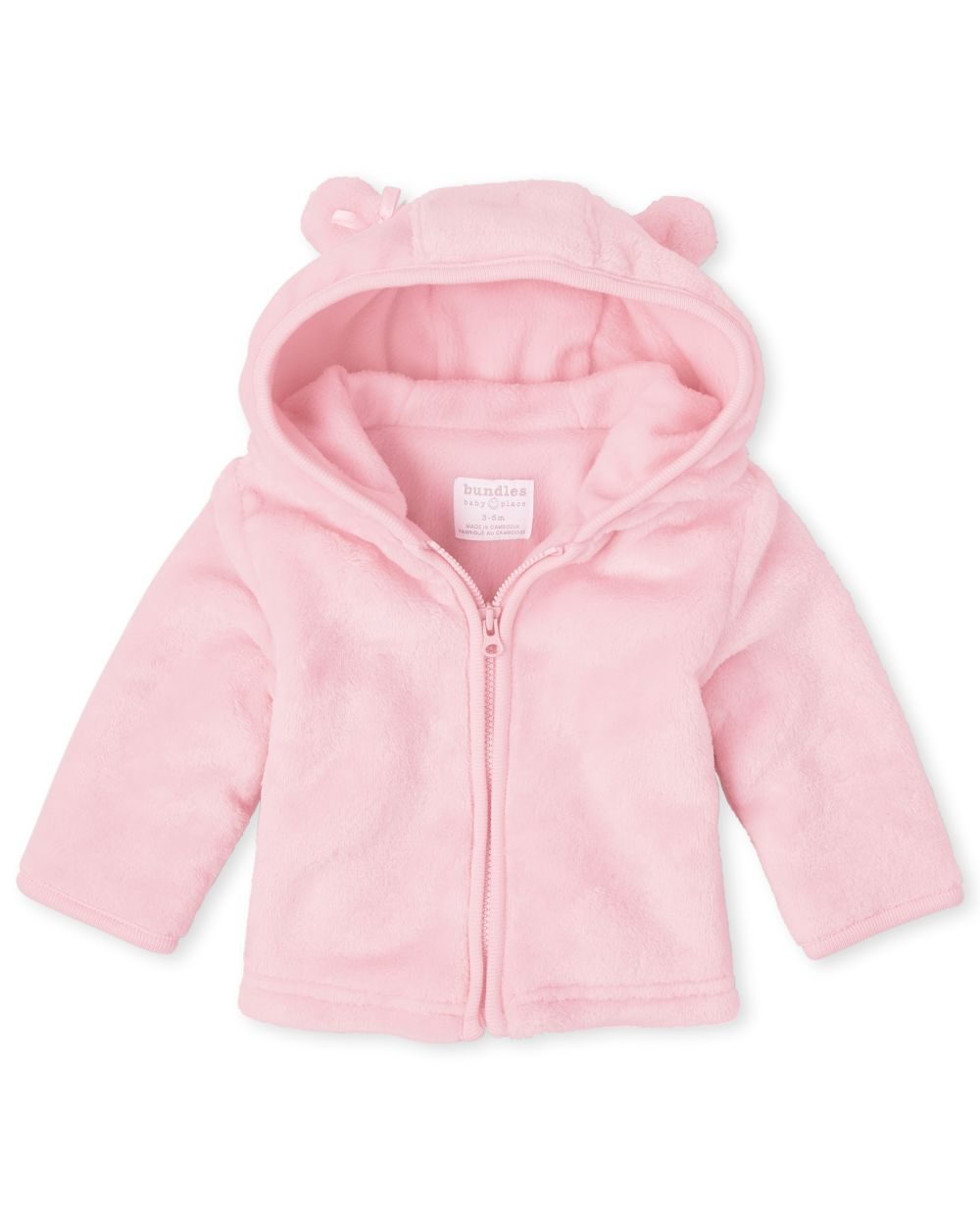 Baby Girls Bear Faux Fur Cozy Jacket