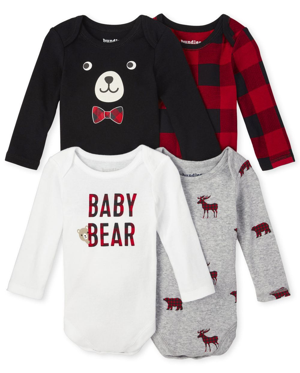Baby Boys Buffalo Plaid Bodysuit 4-Pack