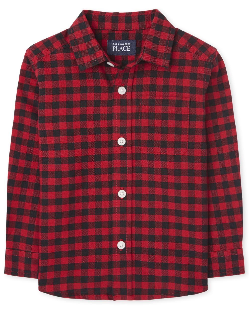 Toddler Boys Matching Family Buffalo Plaid Oxford Button Down Shirt