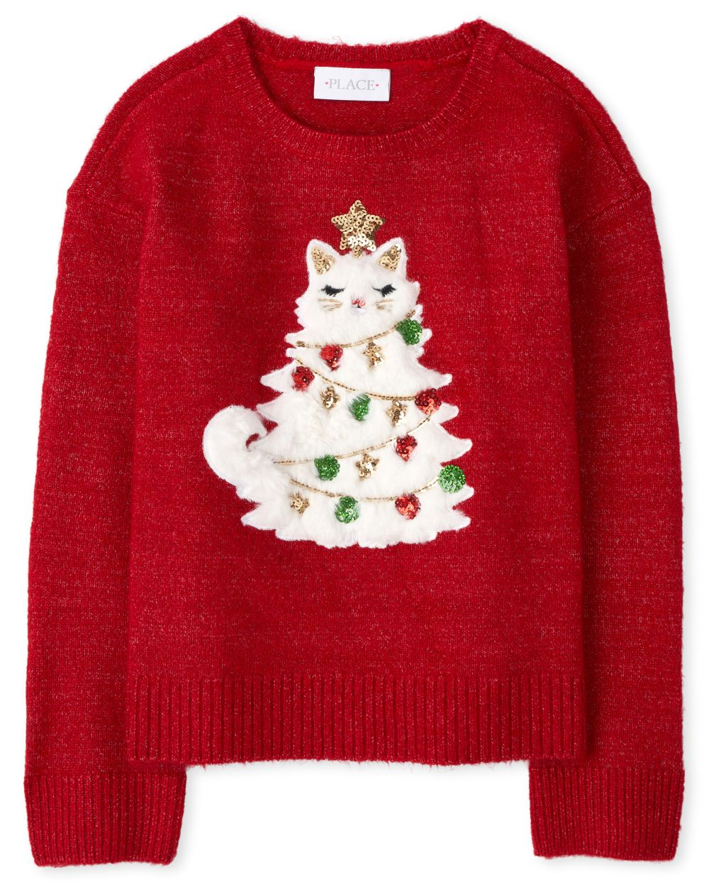 Girls Embellished Christmas Sweater