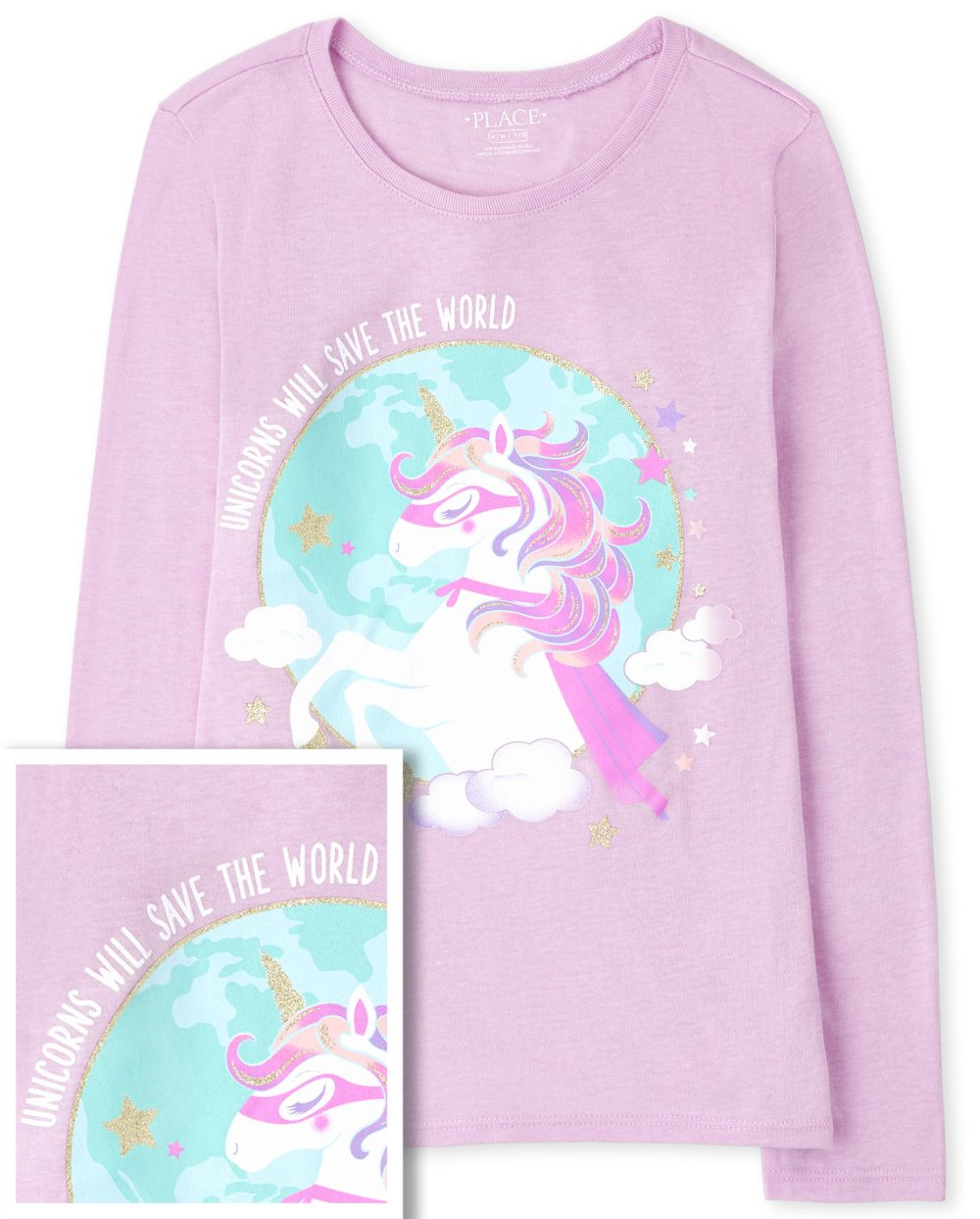 Girls Unicorn Super Hero Graphic Tee