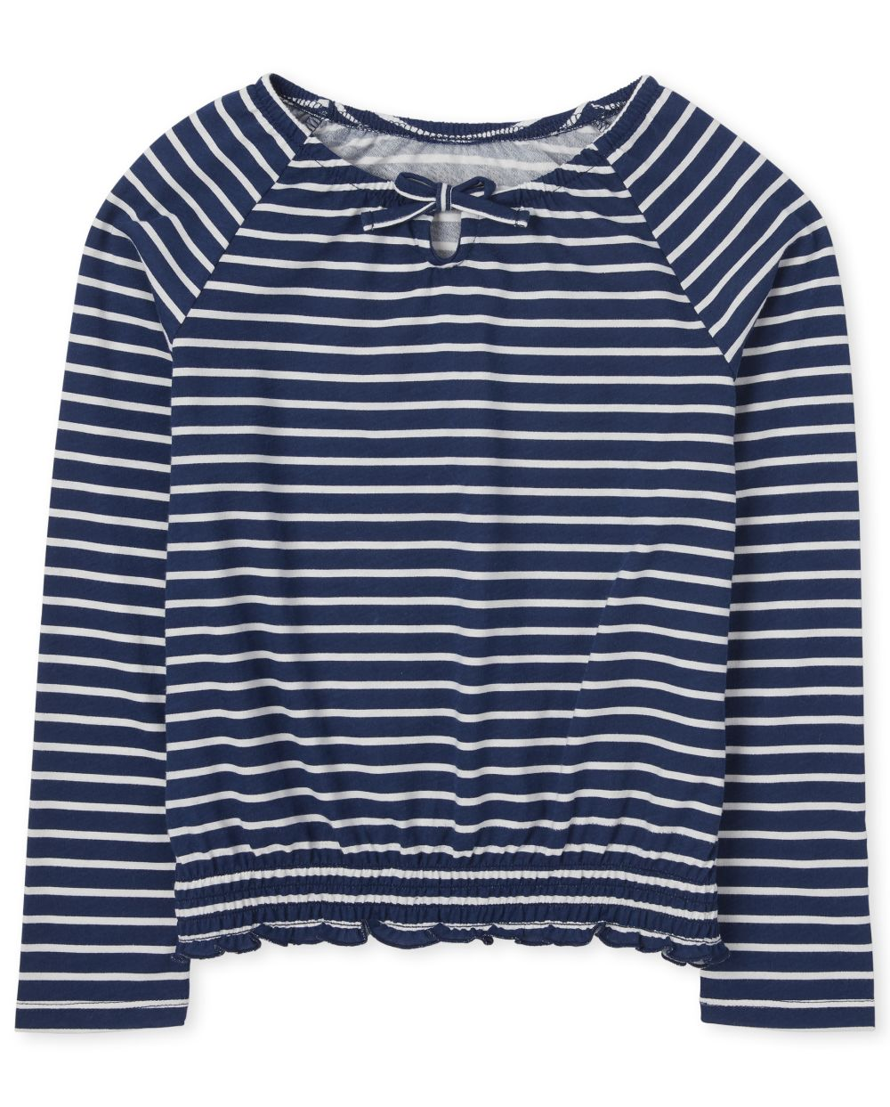 Girls Striped Smocked Peasant Top