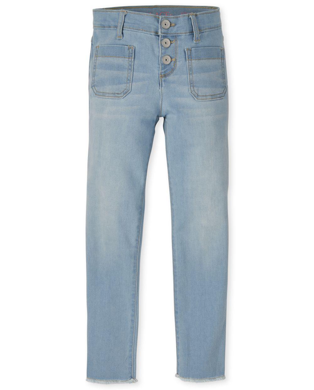 Girls Braided Straight Jeans