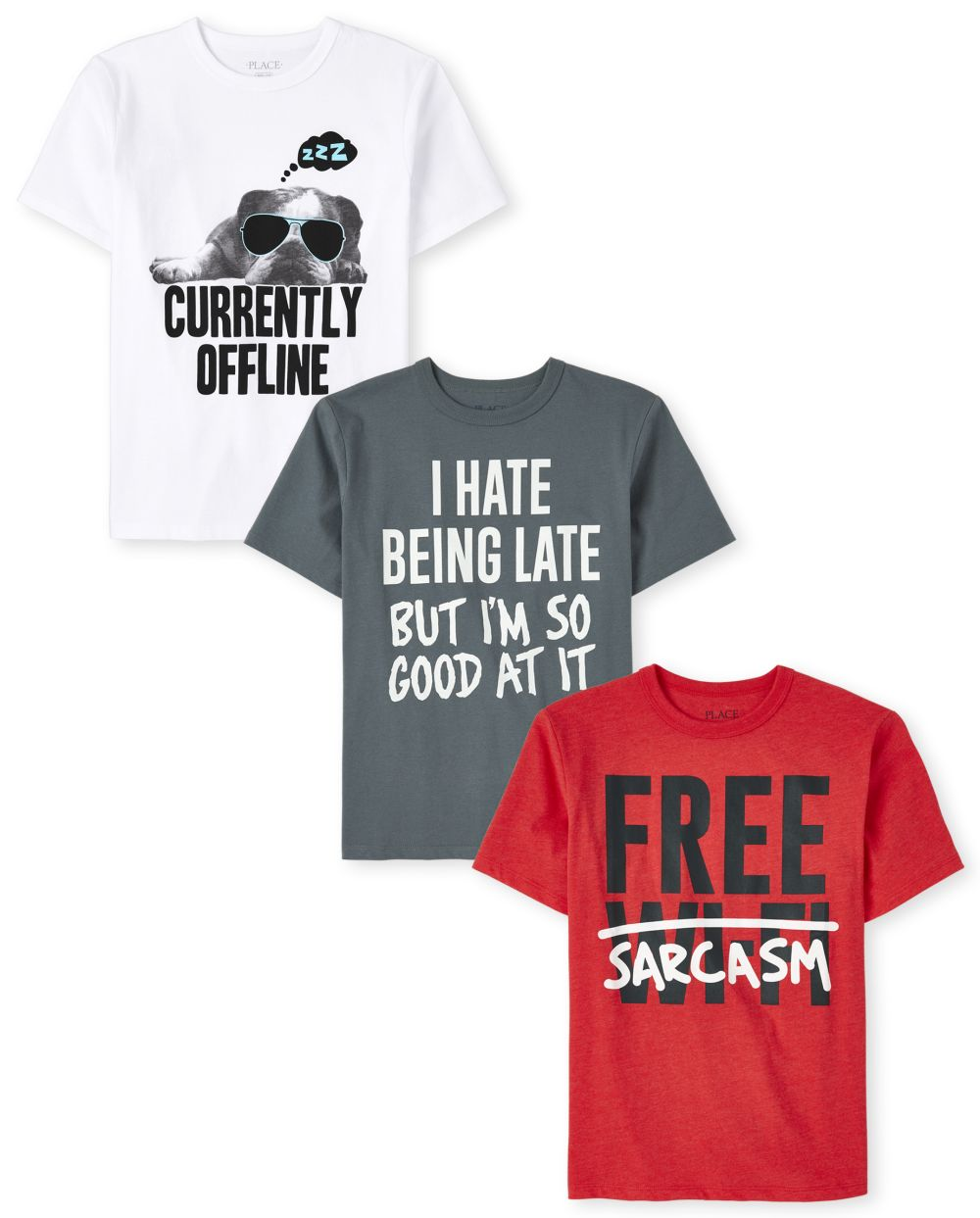 Boys Humor Graphic Tee 3-Pack