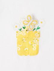 Girls Applique Flower Pot Top - Sunny Daisies