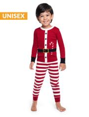 Unisex Girls And Boys Santa Cotton 2-Piece Pajamas - Gymmies