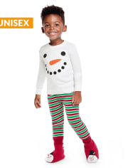 Unisex Girls And Boys Matching Family Snowman Cotton 2-Piece Pajamas - Gymmies