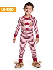 Unisex Girls And Boys Matching Family Reindeer Cotton 2-Piece Pajamas - Gymmies
