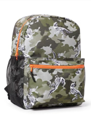 Boys Dino Camo Backpack
