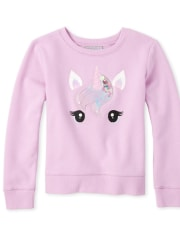 Girls Active Shakey Glitter French Terry Sweatshirt