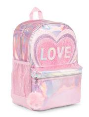 Girls Glitter Love Backpack