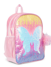 Girls Flip Sequin Butterfly Backpack