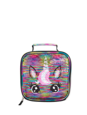 Girls Metallic Flip Sequin Unicorn Lunch Box