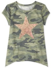 Girls Camo Star Legging Top