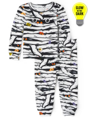 Unisex Baby And Toddler Matching Family Halloween Glow Mummy Snug Fit Cotton Pajamas