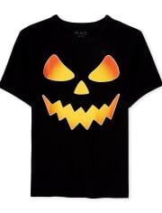 Boys Halloween Pumpkin Graphic Tee