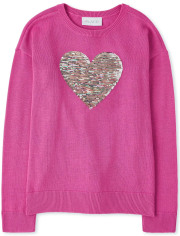 Girls Flip Sequin Sweater
