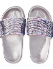 Girls Flip Sequin Slides
